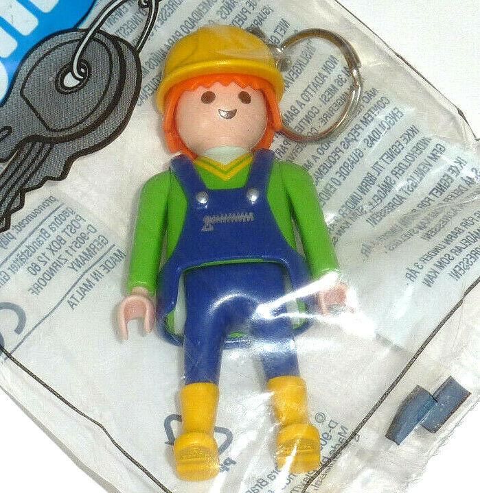 Playmobil Porte clé Key Chain Ouvrier du bâtiment artisans construction worker