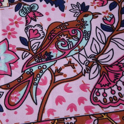 "Imitate Twill Silk Square Scarves Vintage Floral Print Large Shawl Wraps 51/""*51/"""