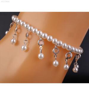 d57fa818f4e1 Image is loading Summer-Women-039-s-Faux-Pearl-Rhinestone-Bracelet-