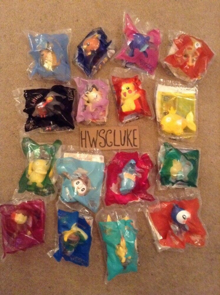 POKEMON MCDONALDS TOYS COMPLETE COLLECTION ALL 16 BRAND NEW