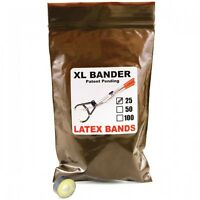 Tri-bander Xl Bands Castrate Bulls Goats Fast Easy To Use Bander 250-750lbs 25ct