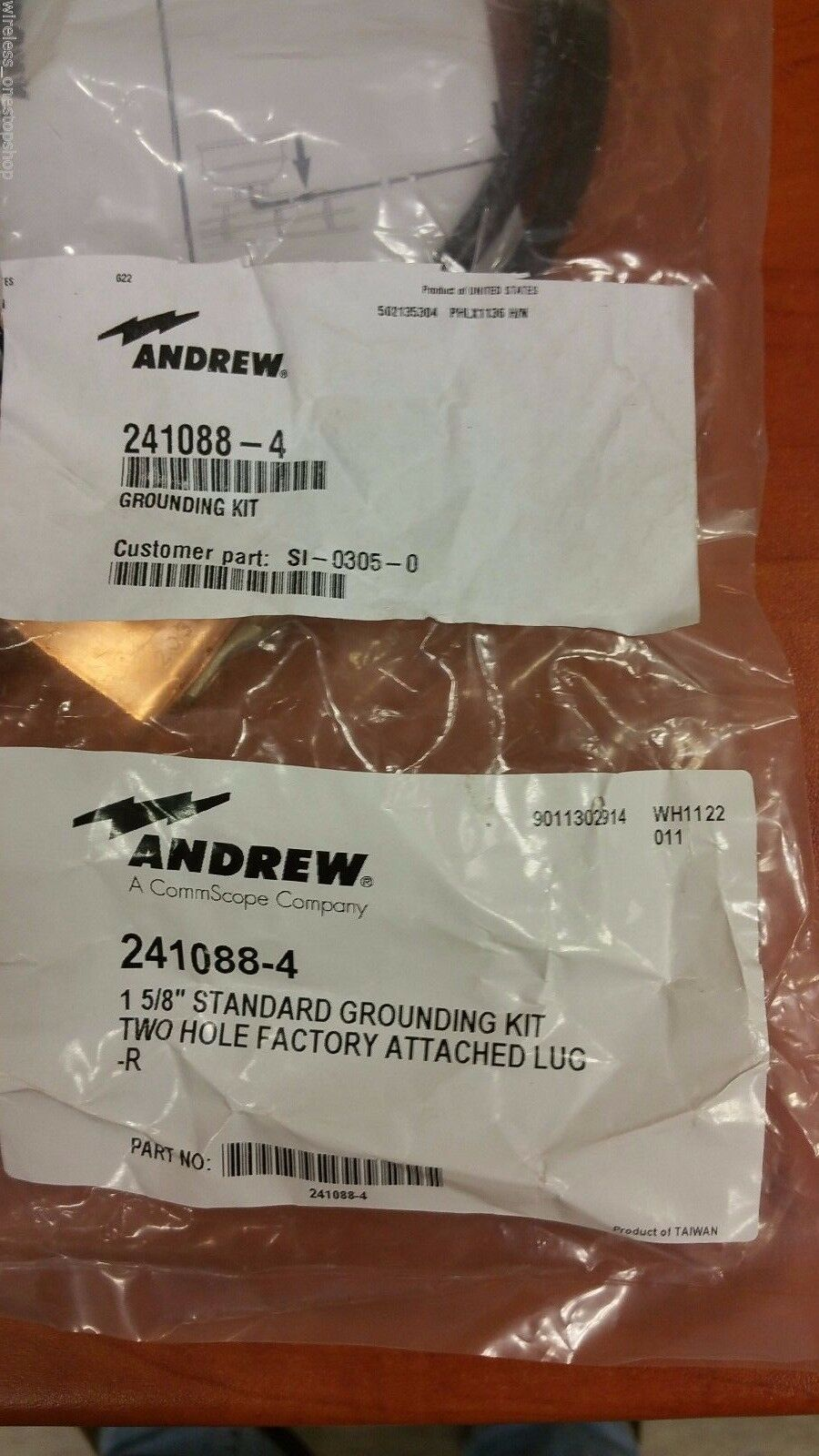 "SGL7-10B2 ANDREW SUREGROUND GROUNDING KIT LDF7 1-5//8/"" CABLE TWO-HOLE LUG"