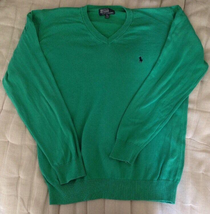 Beautiful Ralph Lauren Green Jumper Size x Large (XL) Designer Men's