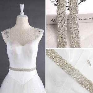 Image Is Loading Crystal Bridal Belt Wedding Dress Sash Diamante Trim