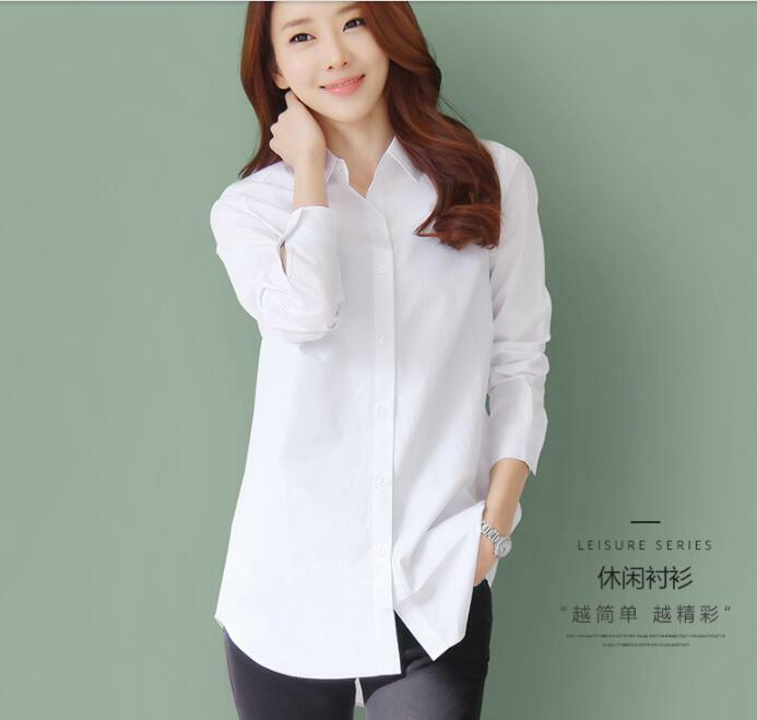 Womens Loose Tops Elegant Blouses T Shirts Long Sleeves Single Breasted Fashion