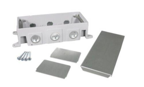 Wiremold Deep Outlet Box 3-Gang floor subfloor recessed 880CS3-1