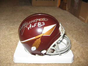 f0a0d3a5 Details about Washington RedSkins Bobby Mitchell signed Mini Helmet W/COA