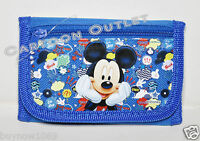 Mickey Mouse Blue Kids Wallet Coin Purse Bag Tri-fold Disney Wallet Licensed