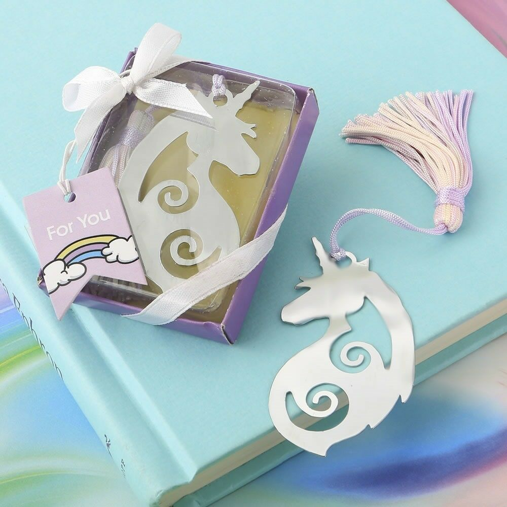 144 Majestic Fairytale Unicorn Metal Bookmark Baby Shower Birthday Party Favors
