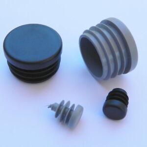 Rundstopfen 1 St/ück 40 mm Grau Kunststoff Endkappen Verschlusskappen