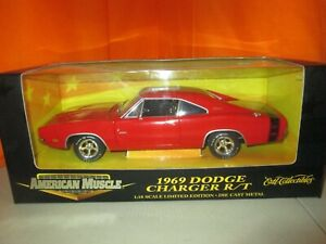 Ertl-Collectibles-1969-Dodge-Charger-R-T-Limited-Edition-1-18-Diecast-in-Box
