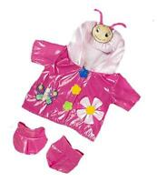 8 Pink Butterfly Lovely Raincoat Coat With Boots Fits 8-10 (25cm) Teddy Bears