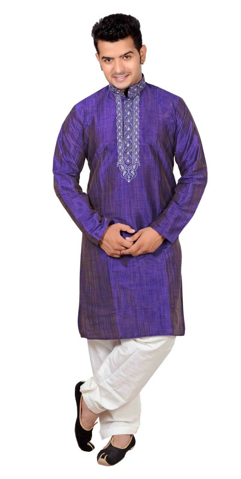 Men's Kurta Shalwar Kameez Pyjama Sherwani Wedding Asian Party Wear Outfit 747