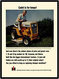 1966 INTERNATIONAL CUB CADET Model 122 Riding Lawn Mower Vintage Look METAL SIGN