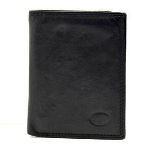 Florentino-Italian-Leather-Slim-Bifold-Card-Wallet-Holder-Black