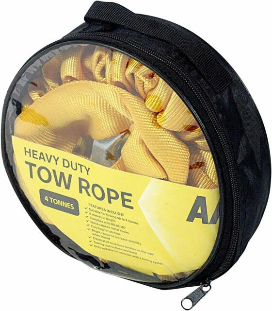 5 Tonne Heavy Duty Towing Belt 4 Meters Breakdown Recovery Tow Rope for Cars
