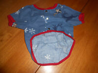The Company Store Size Xs X-small Dog Pajama Top Clothes Deer Print Shirt Top