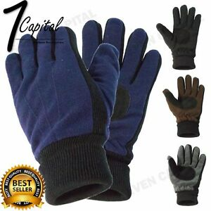 dc8d2bec1bc Details about Mens Winter Warmer Knit Knitted Motorcycle Driving Ski Thermal  Gloves One Size