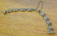Speidel Usa 13mm Ladies Gold Oval Links Vintage Band Strap W/ Safety Chain