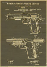1911 Colt 45 Automatic Gun Patent Print Art Drawing Poster 12 x 16 Browning