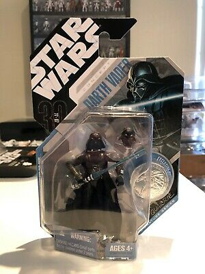 Star Wars 30th Anniversary Darth Vader Figure /& silver coin McQuarrie Série