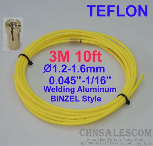 BINZEL Style MIG MAG PTFE Liner 1.2-1.6  Welding Wire Connectors 3M 10ft.