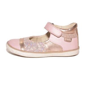 b9a99f4a3046 Noel Girls Mini Alize Pink   Gold Leather High Back Shoes UK 7 EU 24 ...