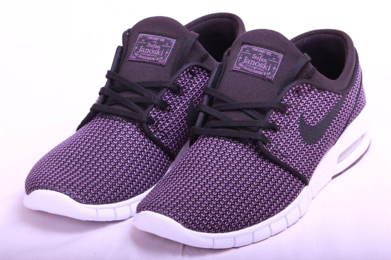 Nike Mens SB Stefan Janoski Max Black Pro Purple White 631303 023 Sz 9-10.5