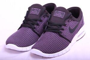 dae02835831d Nike Mens SB Stefan Janoski Max Black Pro Purple White 631303 023 Sz ...
