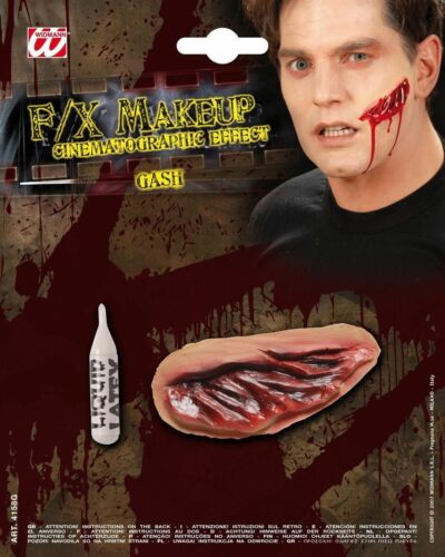 HALLOWEEN GASH MAKEUP SCARS WOUND HORROR PARTY FANCY DRESS ACCESSORY