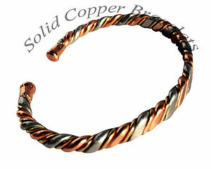 Image Is Loading Medium Mens Las Magnetic Therapy Bracelet Copper Bangle