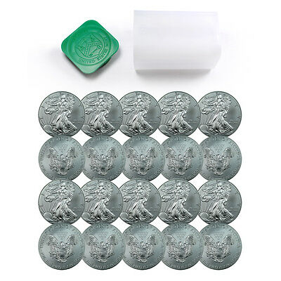 Roll of 20 - 2016 1 Troy Oz .999 Fine American Silver Eagle Coins SKU38287