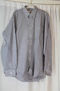 Horne-Brothers-Mens-Stripped-Shirt-Size-16-RO68