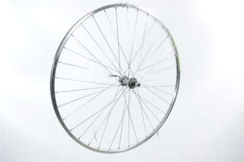 "27"" x 1 1//4"" FRONT WHEEL WITH /""CHROME LOOK /""ALLOY RIM /& QUICK RELEASE HUB NEW"