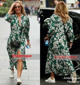 Zara-Green-Long-Floral-Print-Shirt-Dress-Amanda-Holden-Size-XS-S-M-L-XL