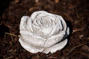 Stein Blüte Frostfest Garten Deko Steinguss Skulptur Rose Rosenblüte ...