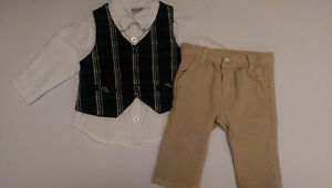 Kanz Baby Kinder Hemd Taufanzug 4 Teilig Taufe Hose Weste