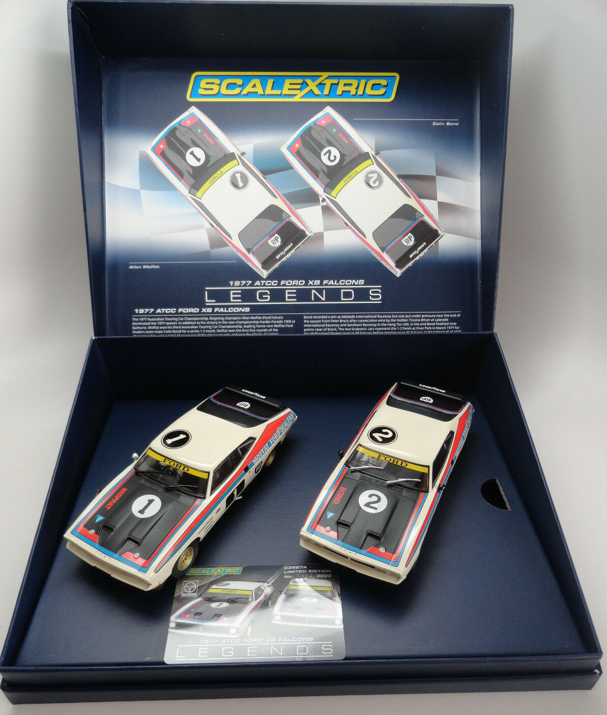 Scalextric  Moffat ford  Ford XB Falcon LE Boxed Set 1 32 Slot Cars C3587A