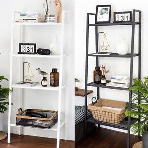 4-Tier-Ladder-Bookshelf-Storage-Unit-Plant-Stand-Bookcase-Display-Rack-Organizer