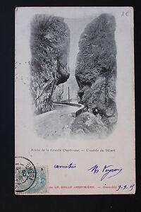 Tarjeta-Postal-Antigua-CPA-Camino-de-La-Gran-Chartreuse-ENTRADA-Del-Desierto