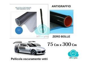 PELLICOLA-OSCURANTE-PER-VETRI-AUTO-NERA-ANTIGRAFFIO-75-X-300-CM-OSCURAMENTO-20-O