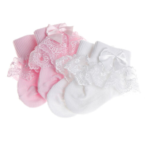 Toddler baby girls princess bowknot sock kids lace ruffle ankle socks lov SP