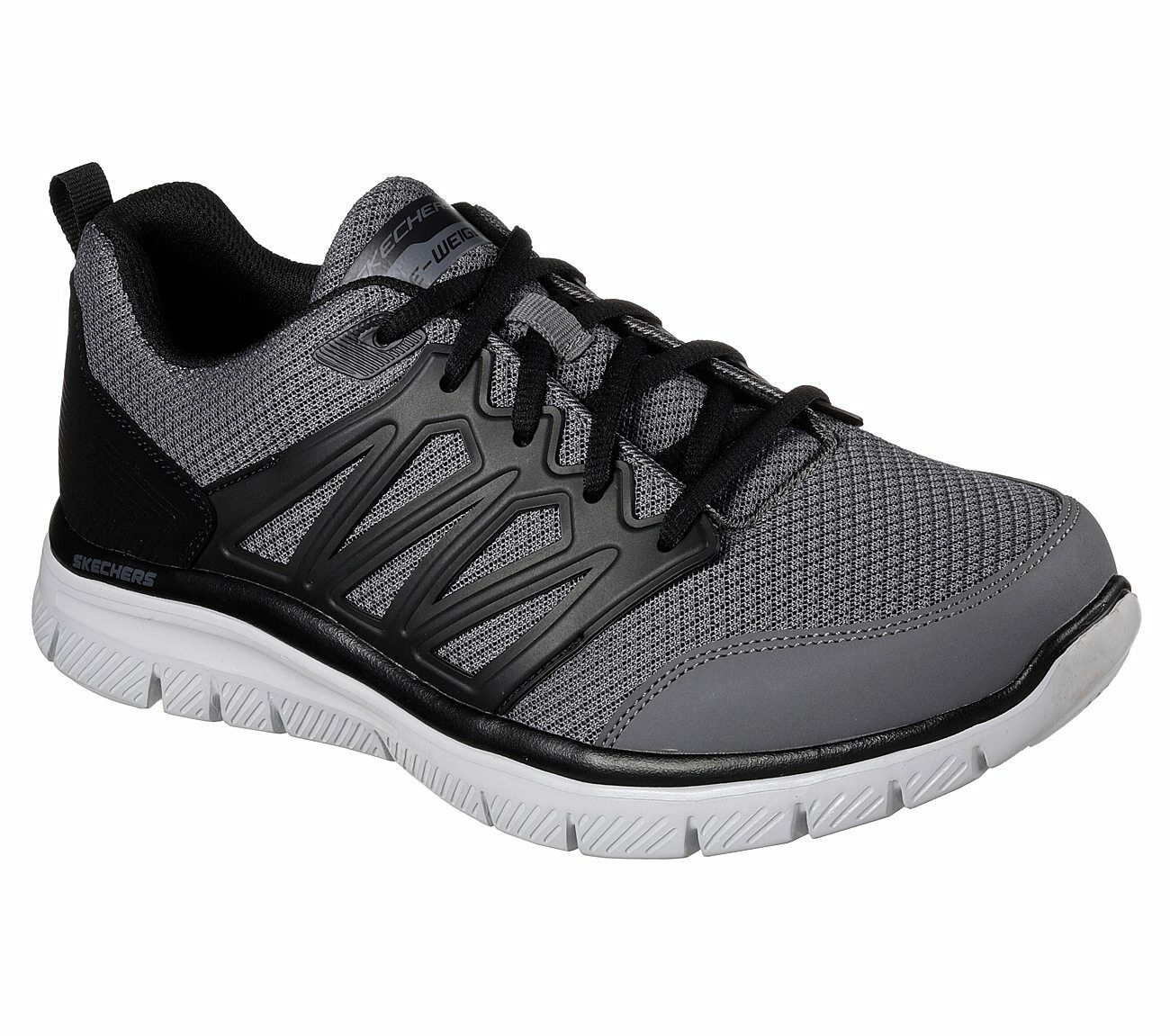 8b0d068abfe 58353 Gray Skechers shoes Men Comfort Casual Soft Mesh Train Train Train  Sporty Memory Foam 07d06b