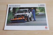 112683) Mitsubishi L200 - Kehrmaschine - Prospekt 09/1993