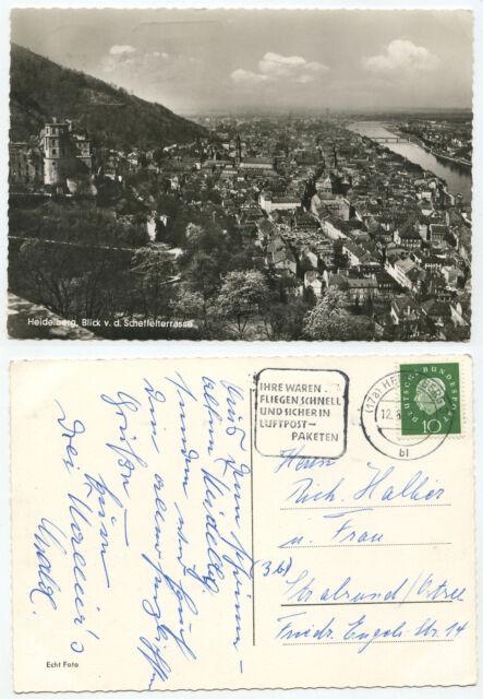 28990-publicitaire tampon: étaient volent rapidement et sûrement... - Heidelberg 12.8.1959