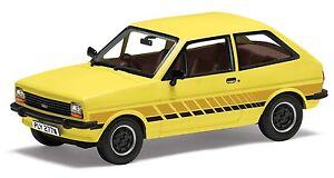 Corgi-VA12509-1-43-Ford-Fiesta-MK1-039-Festival-039-Prairie-Amarillo-Diecast-Modelo-de-Coche
