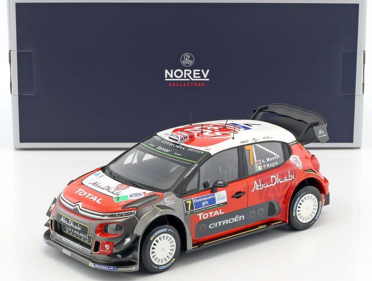 NOREV181632 - Voiture de rallye CITROEN C3 WRC N°7 Winner Mexico de 2017 équipag