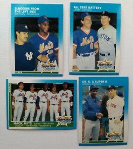 Fleer 1987 Mets Superstar Specials Mets Lot Gooden Clemens Strawberry Carter