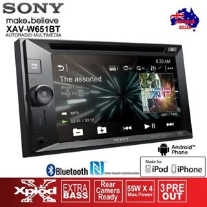 Sony-XAV-W651BT-6-2-ANDROID-BLUETOOTH-LCD-NFC-RDS-IPOD-IPHONE-CAR-STEREO-PLAYER