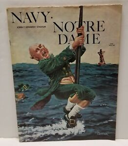 1970-Notre-Dame-Irish-Navy-Midshipmen-Football-Program-Joe-Theismann-Gatewood